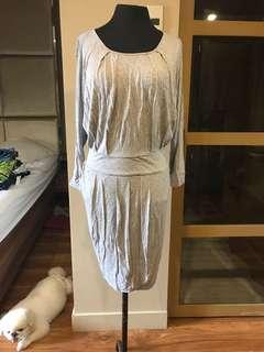 Mango Gray Longsleeves Dress