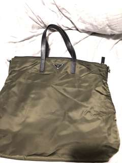 Prada Tote bag (green)