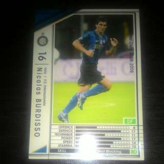 FOOTBALL CARD INTER MILAN 2008