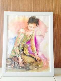 Lukisan Gadis Bali