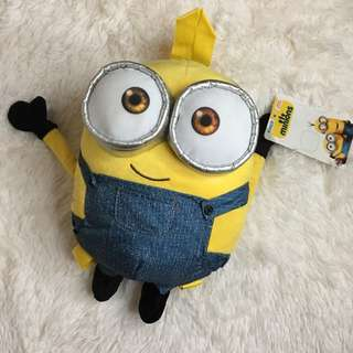 [BNWT] Minions Plush Backpack Yellow Bellow