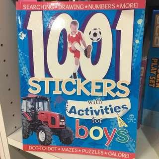 Stikcer book for boys