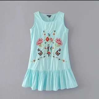 (INSTOCK) Embroidery Dress