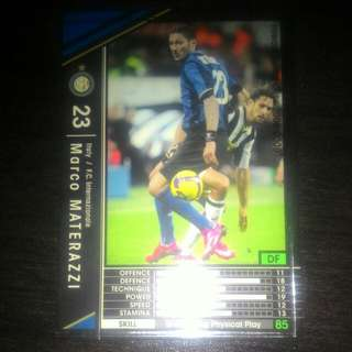 FOOTBALL CARD MARCO MATERAZZI 2008