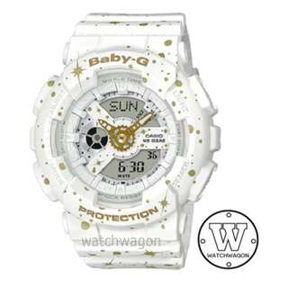 Brand New Casio Baby-G Star Series White BA-110ST-7A  ....   ba-110
