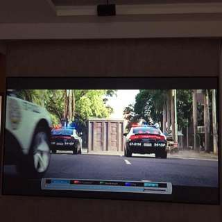 Home theater  black Crystal screen100inch