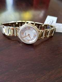 Fossil Virginia Gold-Tone Stainless Steel watch, 30 mm.