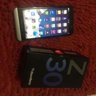 blackberry z30 full set mulus 99%