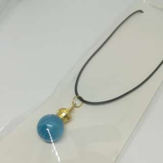 Blue ball necklace