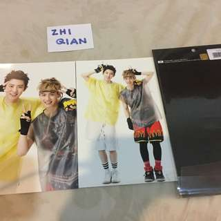 [READY STOCK] EXO POP UP STORE POSTCARD SET CHANYEOL BAEKHYUN WOLF ERA