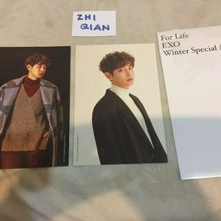 [READY STOCK] EXO POP UP STORE POSTCARD SET CHANYEOL FOR LIFE