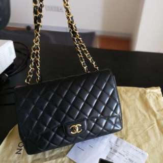 Chanel single flap caviar jumbo