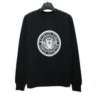 BALMAIN 圓形Logo套頭衛衣(黑色)