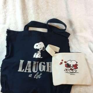 Snoopy子母環保袋