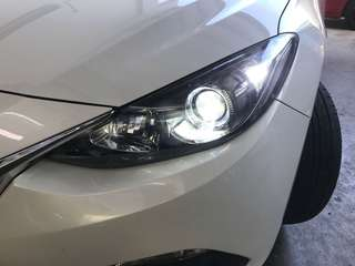 Mazda 3 without Factory Hid to Hid conversion