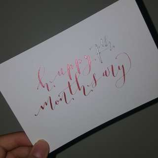 CHEAP CUSTOMISED CALLIGRAPHY CARDS