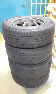 "15"" tyres with rim"