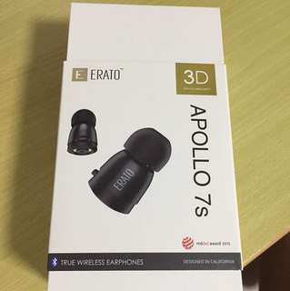 Erato Apollo 7s Matte Black True Wireless Earphones