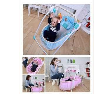 Pink Portable Baby cradle rocker