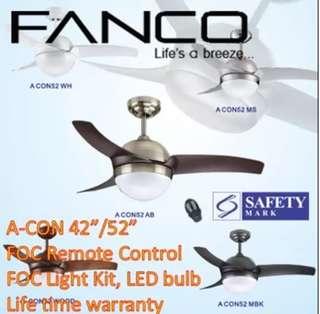 Fanco Ceiling Fan Tri Colour Led Light
