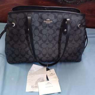 authentic Coach drawstring carryall tote from US