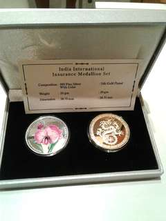 24 Gold Plated & 999 Fine Silver Coin