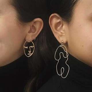 head + body earrings