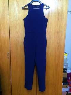 MDS Premium High-waist Navy Jumpsuit