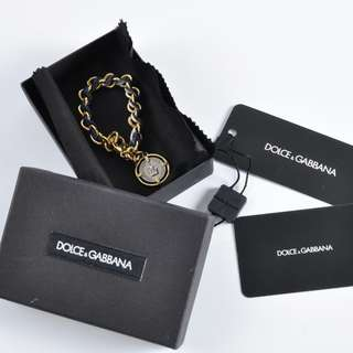 AUTHENTIC DOLCE & GABBANA CHAIN CHARM BRACELET