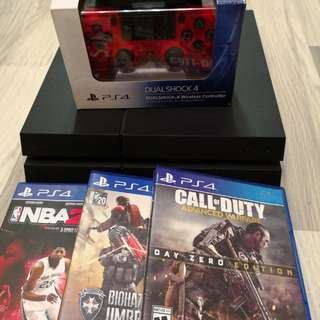 PS4 1TB版連全新紅色手制(3 Game)