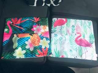 Pillow case flamingo