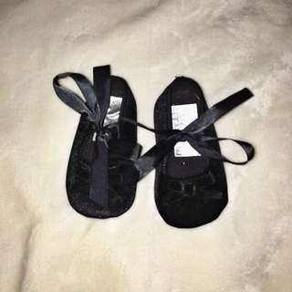 Mothercare Black Velvet Shoes