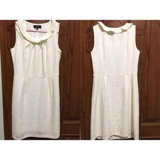 Simple mini dress white