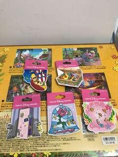 日本迪士尼耳環(toystory,怪獸公司,美人魚,小飛俠,美女與野獸)