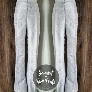 Songket Bell Pants (Silver)