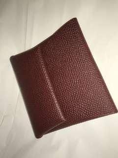 Hermes 小散銀包 8.5x 8.5 全真皮製造 全新購自巴黎保證真品