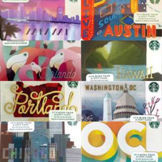 Starbucks USA City Cards 2016