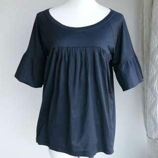 購自日本品名牌ZUCCa全棉針織上衣