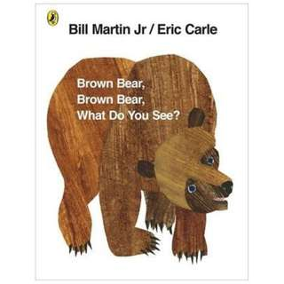 Brown Bear, Brown Bear, What Do You See? children's book (BN)