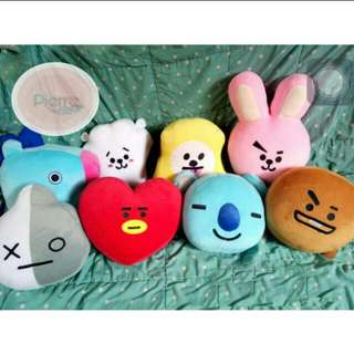 READY BT21 CUSHION DOLL PREMIUM QUALITY ALL CHARACTER