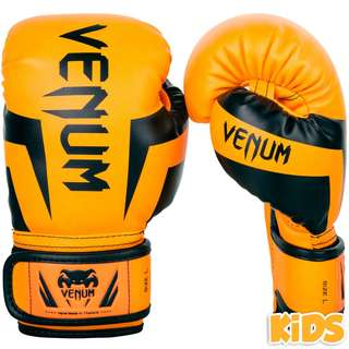 Authentic Venum Elite Kids Boxing Gloves (Neo Orange)