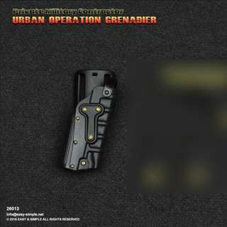 Easy & Simple ES26013 1/6 Scale PMC UOG Glock 17 Holster Toy Model For Use With 12 Inch Action Figure Model S