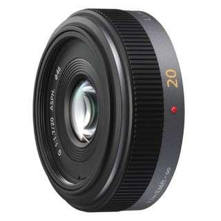 Panasonic 20mm f1.7 micro four third lens