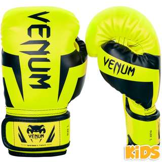 Authentic Venum Elite Kids Boxing Gloves (Neo Yellow)