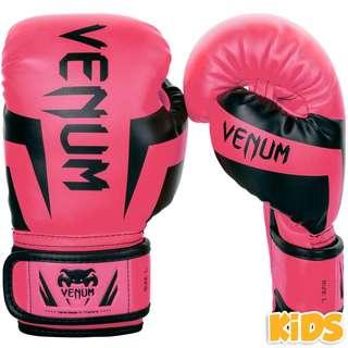 Authentic Venum Elite Kids Boxing Gloves (Neo Pink)