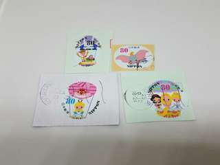 日本郵票 pixar disney 已用