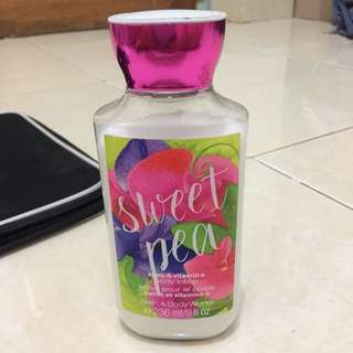 Sweat Pea Body Lotion BBW #123moveon