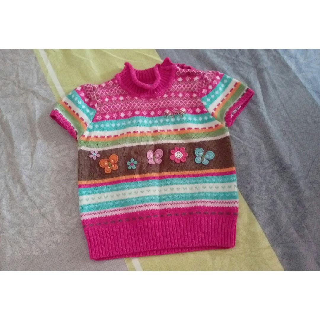 9成新「麗嬰房 Disney」繽紛彩條針織羊毛上衣/外搭 #3
