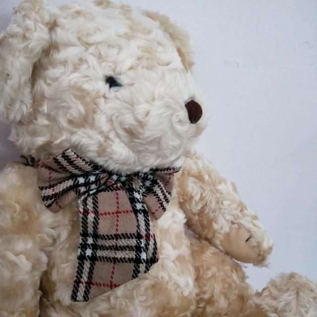 《待上架》全新淺棕色玫瑰毛熊熊大型玩偶