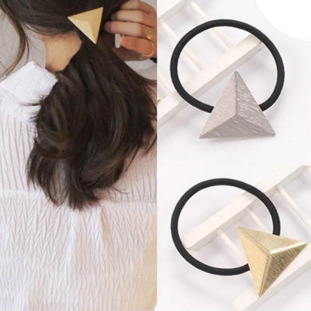 ▪️立體三角髮圈/剩下銀色